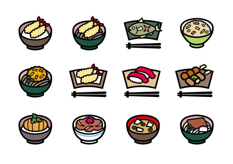 ファーストフード和食(麺類・寿司・丼物・弁当など)